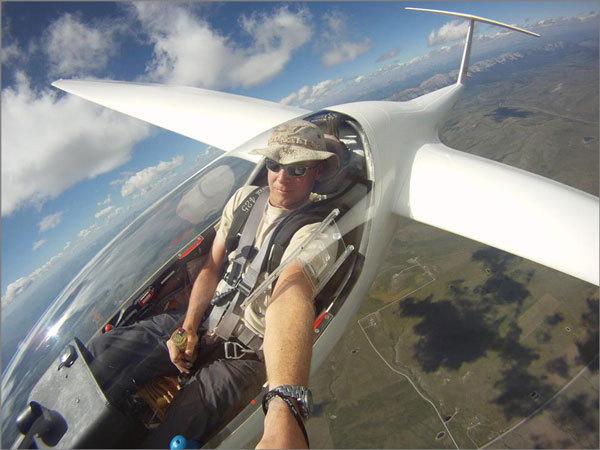 glider selfie