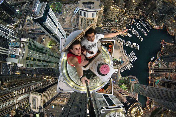 on the edge selfie