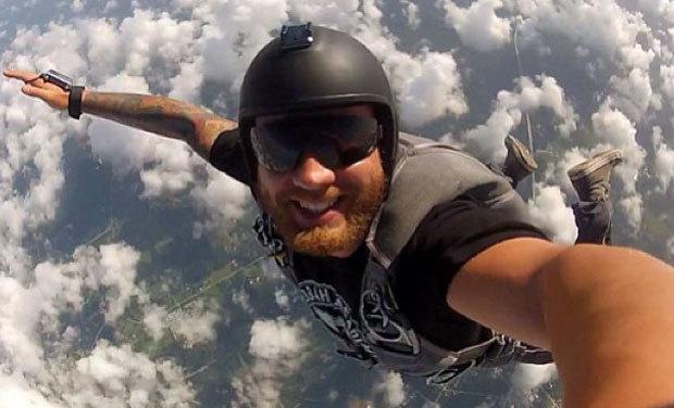 skydiver selfie