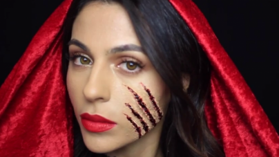 How To- Couple Halloween Makeup: Little Red Riding Hood and The Wolf (VIDEO)