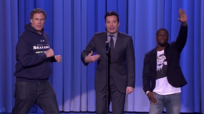 Jimmy Fallon, Kevin Hart And Will Ferrell 3 Way Lip Syncing Battle (Video)