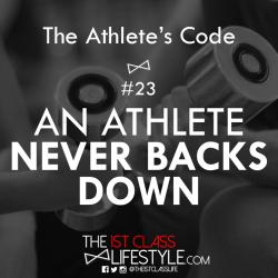 The Athlete's Code #23