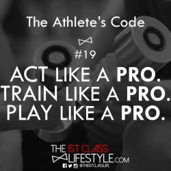 The Athlete's Code #19