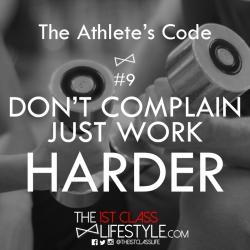 The Athlete's Code #9