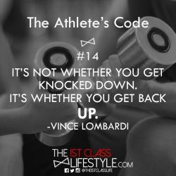 The Athlete's Code #14